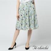❖ Hot item ❖ 滿版碎花後拉鍊中長裙 - Te chichi
