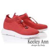★2018秋冬★Keeley Ann旅行輕便~透氣布優雅水鑽休閒鞋(紅色) -Ann系列