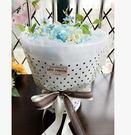 圓形花束玫瑰香皂花禮盒送女友媽媽閨蜜肥皂花生日禮物【天藍色】