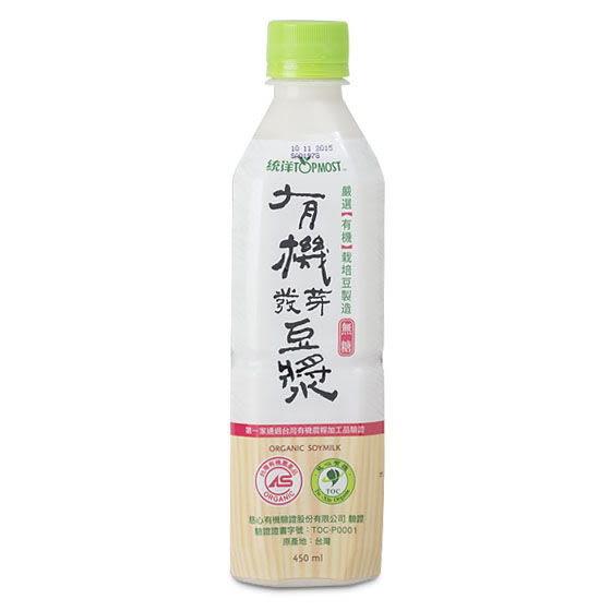 統洋 有機發芽豆漿 無糖(450毫升) 24瓶 全素食