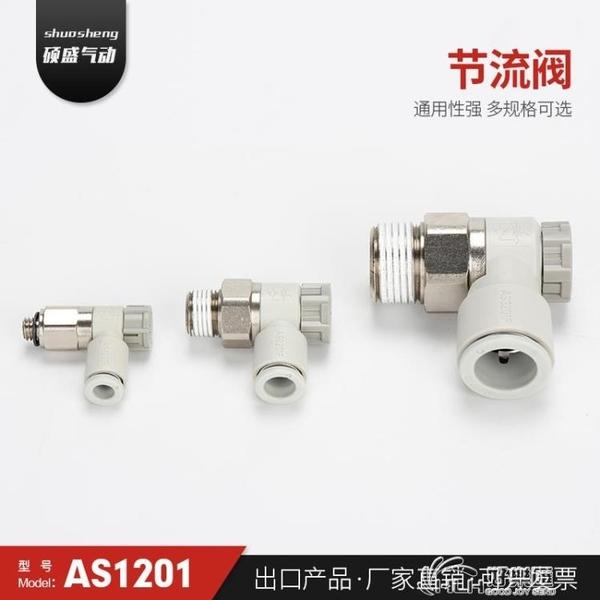 AS限出型節流閥SMC型調節閥調速閥排氣節流閥快速接頭廠家直銷 好樂匯