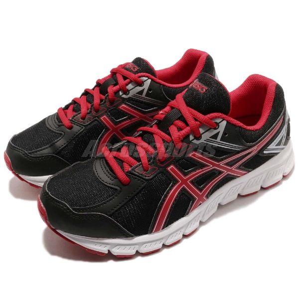 Asics 慢跑鞋 Lazerbeam JB 黑 紅 基本款 舒適緩震 女鞋 大童鞋 運動鞋【PUMP306】 C731N-9023
