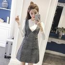 女裝秋裝新款女潮時尚套裝兩件套洋裝冬裙加厚冬季冬天冬裝 晴天時尚
