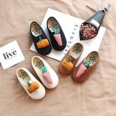 兒童帆布鞋女童韓版一腳蹬休閒鞋軟底布鞋