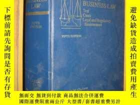 二手書博民逛書店WEST S罕見BUSINESS LAW Text Cases