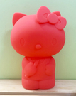 【震撼精品百貨】Hello Kitty 凱蒂貓~Hello Kitty日本SANRIO三麗鷗KITTY化妝包/筆袋-造型矽膠紅*46304