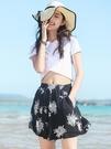 短褲女夏季寬鬆高腰外穿垂感薄款寬管褲裙褲熱褲海邊度假沙灘褲子 果果輕時尚