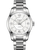 《寒戰2》彭于晏配戴款 LONGINES 浪琴 征服者經典系列兩地時間腕錶/手錶-銀/42mm L27994766