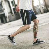 夏季薄款男士寬鬆純棉短褲透氣運動五分褲跑步健身復古潮流沙灘褲【無趣工社】