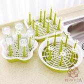 玻璃杯架瀝水杯子架倒掛架收納架杯架水杯架置物架【櫻田川島】