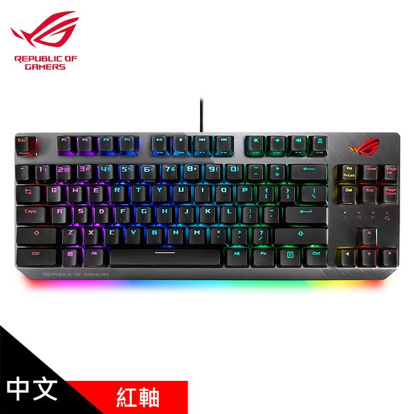 【ASUS 華碩】ROG Strix Scope NX TKL RGB 機械式電競鍵盤 紅軸