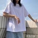 中大尺碼短袖 純棉黑白色短袖t恤女夏新款寬鬆韓版大碼多色網紅ins超火潮 阿薩布魯