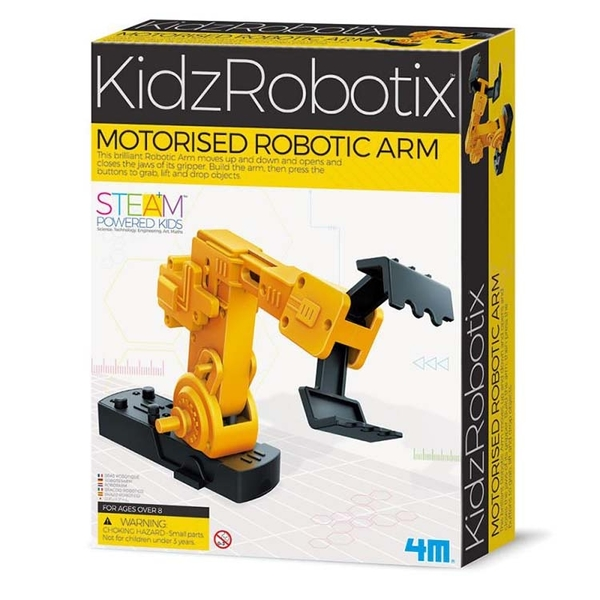 《 4M科學探索 》超級機械手臂 Motorised Robotic Arm╭★ JOYBUS玩具百貨