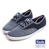 KEDS CHAMPION雛菊繡花鏤空帆布鞋 藍 182W122458 女鞋