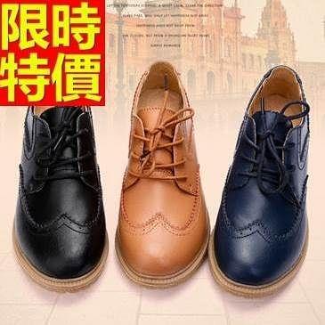 女牛津鞋-低跟歐洲風典型綁帶休閒女皮鞋6款65y54[巴黎精品]