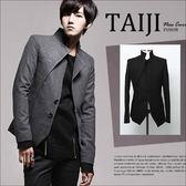 西裝外套【NTJB02】日韓風格‧韓版小西裝男士修身毛呢質感西裝外套‧二色‧復古/m65/素面/騎士