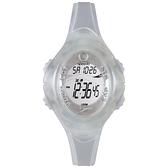 Speedo 紫外線感測運動電子腕錶-透明白