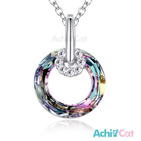 項鍊 AchiCat 採用施華洛世奇水晶 正白K 甜蜜佳人 兩款任選 附鋼鍊