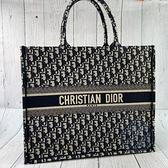 BRAND楓月 Christian Dior CD 迪奧 M1286 經典 藍老花 BOOK TOTE 托特包 手提包