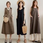 MIUSTAR 可調式側釦帶斜紋布背心洋裝(共3色)【NJ0557】預購