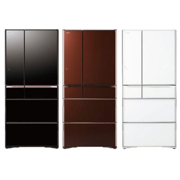 線上申請送多選卷3千元【HITACHI日立】日本原裝變頻676L。六門電冰箱/琉璃棕(RG680GJ)