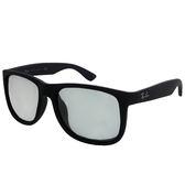 台灣原廠公司貨-【Ray-Ban 雷朋】4165F-622/6G-55 亞洲加高鼻墊款太陽眼鏡/墨鏡(#霧黑-水銀鏡面)
