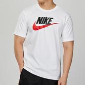 Nike AS M NSW TEE ICON FUTURA 男子 白色 基本款 棉質 休閒 短袖 AR5005-100