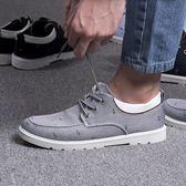 帆布鞋男 春季新款布鞋潮流板鞋夏季透氣百搭韓版潮學生休閒單鞋男鞋帆布鞋 芭蕾朵朵
