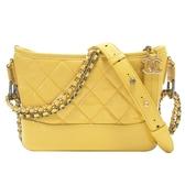 香奈兒 黃色半亮面牛皮肩背包 流浪包 Chanel s Gabrielle Small Hobo Bag