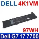 戴爾 DELL 4K1VM 6芯 . 電池 G7 17 7700