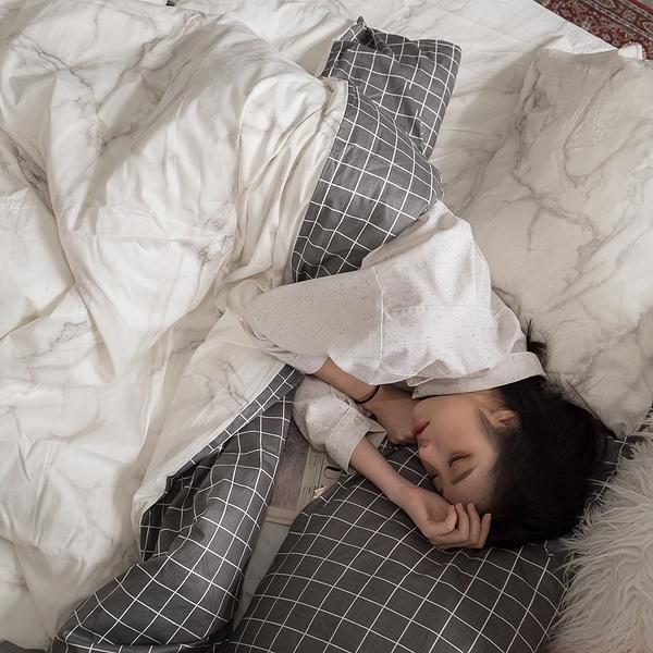 白大理石 K1 雙人King Size床包三件組  100%精梳棉  台灣製