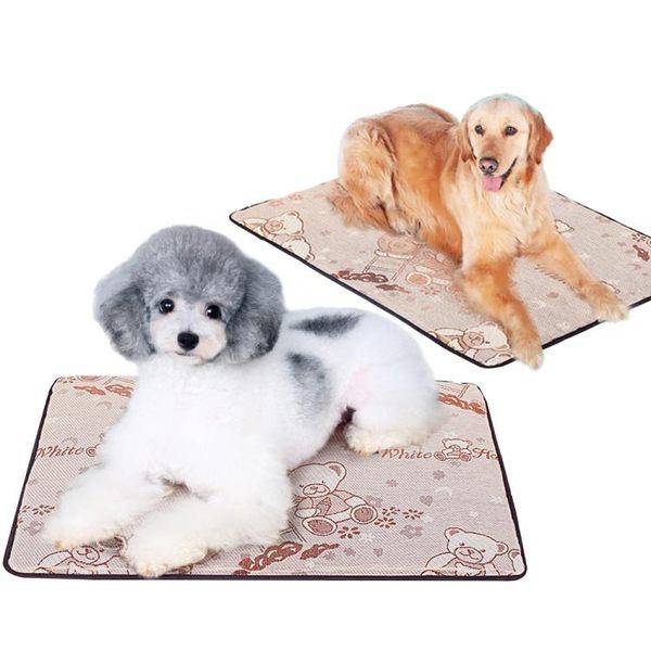 狗狗涼墊泰迪冰墊夏天寵物用品冰絲墊子床墊貓咪狗窩涼席睡墊夏季