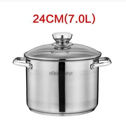 德國304不銹鋼湯鍋加厚复底加深大容量鍋具電磁爐【24cm】