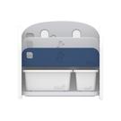 韓國 IFAM 書架收納組(白色收納盒x2)深藍色
