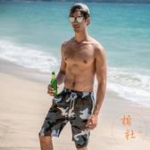 沙灘褲5分五分褲休閒短褲男寬松運動褲夏季【橘社小鎮】