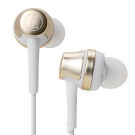 【曜德 / 新上市】鐵三角 ATH-CKR50 香檳金 輕量耳道式耳機 輕巧機身 ★免運★送收納盒★