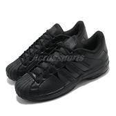 adidas 籃球鞋 Pro Model 2G Low 黑 全黑 男鞋 女鞋 貝殼頭 皮革 復刻【ACS】 FX7100