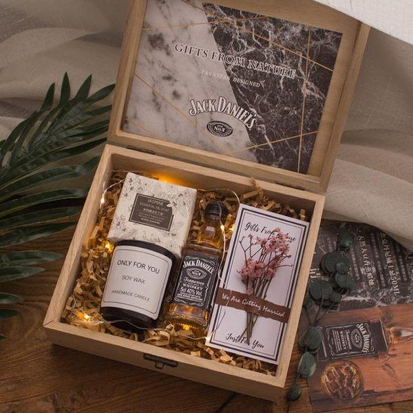 範妮範威士卡木盒禮盒伴手禮喜糖盒子伴郎禮物男友生日禮物