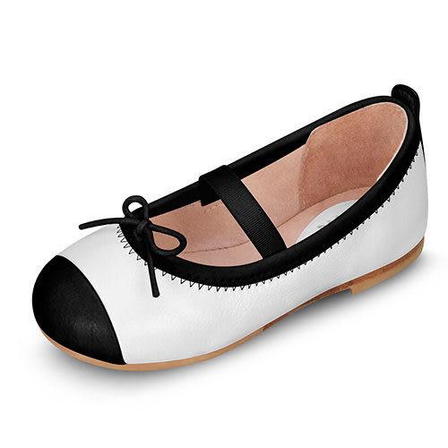 童鞋 / 娃娃鞋 澳洲Bloch芭蕾舞鞋 │黑邊蝴蝶結芭蕾舞鞋-白 #BT1240 WHT