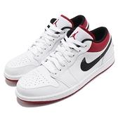 Nike 休閒鞋 Air Jordan 1 Low 白 黑 紅 White Univeristy Red 喬丹 1代 男鞋 AJ1 【ACS】 553558-118