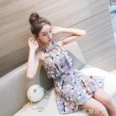 泳衣女連體裙式保守遮肚顯瘦新款韓國學生溫泉性感小清新泳裝      芊惠衣屋