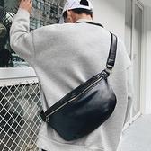 新款復古男士小包時尚青年小胸包單肩包運動騎行斜跨包腰包大容量 極簡雜貨
