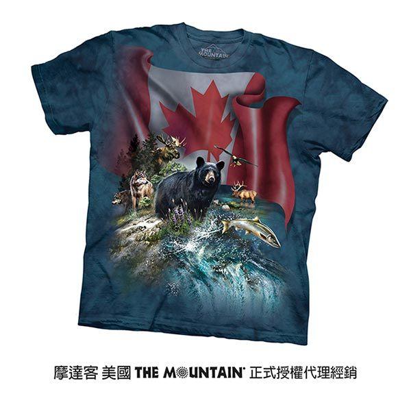 【摩達客】(預購)美國進口The Mountain 加拿大動物群 純棉環保短袖T恤(10415045061)