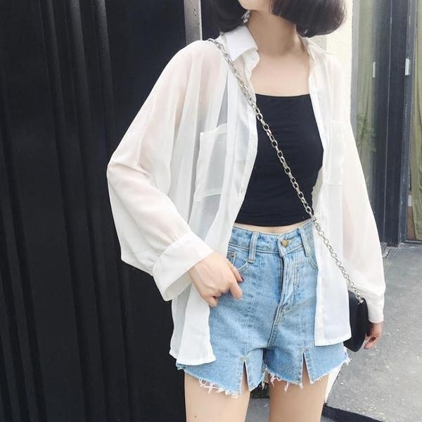 防曬外套 防曬衣女夏季雪紡開衫薄款2020新款韓版中長款超仙女外搭寬鬆外套