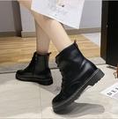 【A99】 春季新款 百搭時尚 英倫風馬汀靴 時尚機車靴