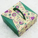 月餅包裝盒   綠色百花*5個   14...