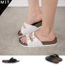 女款 MIT線條釦式記憶腳床 休閒拖鞋 59鞋廊