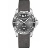 LONGINES 浪琴 深海征服者浪鬼陶瓷潛水機械錶-灰/43mm L37824769