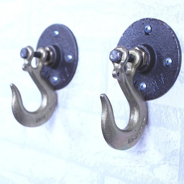 工業風LOFT重工業鐵鉤.鐵藝掛勾裝飾衣服衣架廁所門口後創意金屬掛鉤