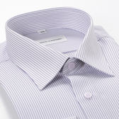 ROBERTA DI CAMERINO 諾貝達長袖細條紋襯衫-白紫